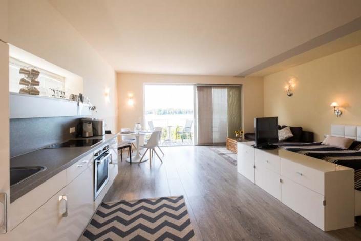 stilvoll integrierte Küche Apartment 4