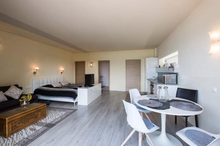 perfekt aufgeteilter Wohn- und Schlafraum Apartment 4